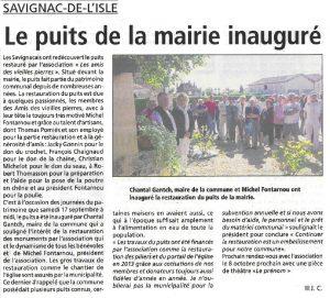 2016 Journées du patrimoine - Puits mairie