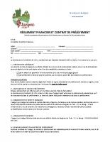 Règlement financier et contrat de prélèvement