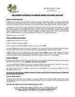 Reglement interieur Garderie Parents 2020-2021