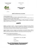 Arrêté de délégation à un adjoint 2020-008