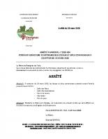 Arrêté n2020-003 arrêté portant fermeture temporaire des locaux et sites communaux à compter du 26 03 2020