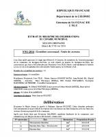Délibération du conseil municipal 01-2014.Cimetière communal-vente de caveaux