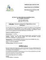 Délibération du conseil municipal 02-2014.Concours déportation et résistance