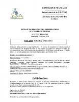 Délibération du conseil municipal 03-2014.CAUE cotisation 2014