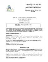 Délibération du conseil municipal 05-2014.Parcelle A356