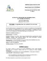 Délibération du conseil municipal 07-2014.Acceptation dons