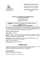 Délibération du conseil municipal 08-2014.Cotisation PACT