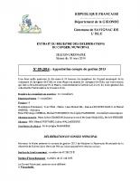 Délibération du conseil municipal 09-2014.approbation compte de gestion 2013