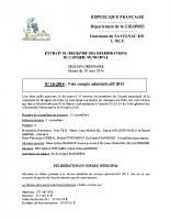 Délibération du conseil municipal 10-2014.compte administratif 2013