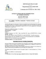 Délibération du conseil municipal 12-2014.Cimetière communal vente de caveaux
