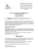 Délibération du conseil municipal 16-2014.Détermination du nombre des adjoints