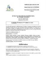 Délibération du conseil municipal 18-2014.Election 2ème adjoint maire
