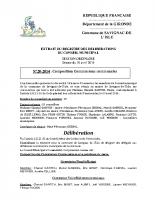Délibération du conseil municipal 20-2014.Commisions communales