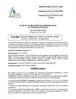 Délibération du conseil municipal 21-2014.Pouvoirs délégués