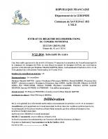 Délibération du conseil municipal 22-2014.Indemnité maire