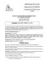 Délibération du conseil municipal 23-2014.Indemnité adjoint-maire