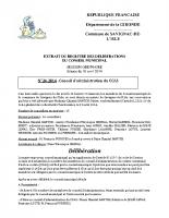 Délibération du conseil municipal 24-2014.CCAS