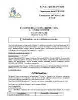 Délibération du conseil municipal 27-2014.Subventions communales