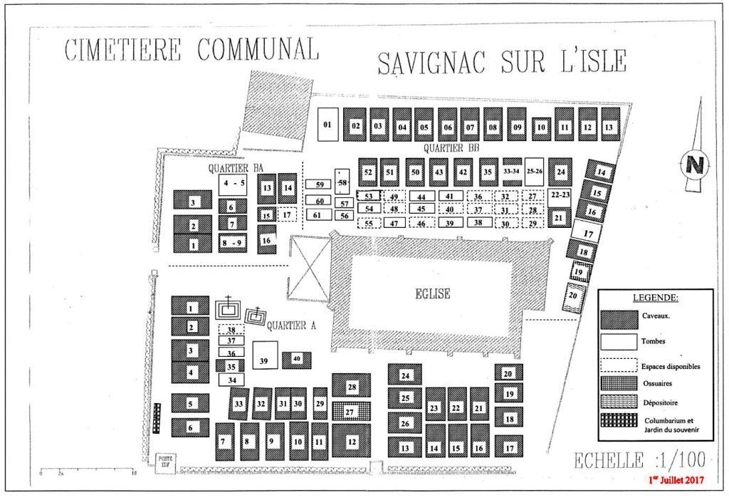 Plan du cimetière (MAJ 2017)